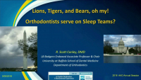 Lions and Tigers and Bears, Oh My? Orthodontists Serve on Sleep Teams?! icon
