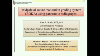New Midpalatal Suture Maturation Grading System Using Panoramic Radiographs icon