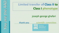 Limited Transfer of Class II to Class I Phenotype