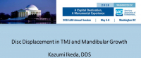 Disc Displacement in TMJ and Mandibular Growth icon