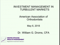 Investment Management in Turbulent Markets