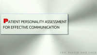 Patient Personality Assessment for Effective Communication