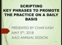 Scripting: Key Phrases We Use to Promote and Build the Practice on a Daily Basis! icon