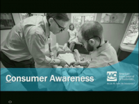 7 Reasons the AAO's Consumer Awareness Program is LIT! presented by the AAO Council on Communication icon