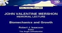 2003 Annual Session - Growth and Biomechanics - Who Gets the Credit (Mershon Lecture)