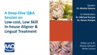 Deep Dive Q&A on In-house Aligner & Lingual Appliance Production icon