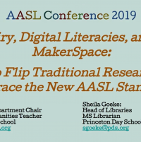 Inquiry, Digital Literacies, and the Makerspace: How to Flip Traditional Research to Embrace the New AASL Standards icon