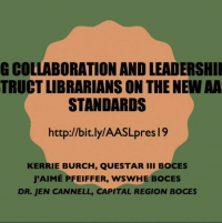 Using Collaboration and Leadership to Instruct Librarians on the New AASL Standards icon