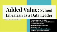 Added Value: School Librarian as Data Leader icon
