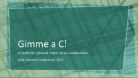 Gimme a C (for Collaboration!): A Toolkit for School and Public Library Collaboration icon