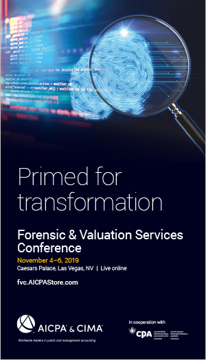 Forensic & Valuation Services Conference 2019 icon