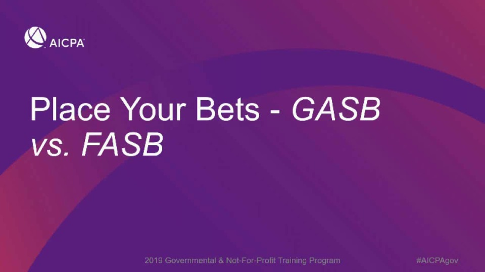 Place Your Bets - GASB vs. FASB icon
