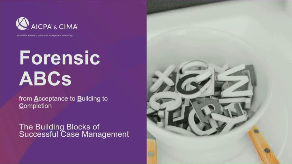 Forensic ABCs - The Building Blocks of Successful Case Management icon
