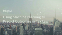 Using Machine Learning to Predict Outcomes in Tax Law icon