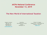 The New World of International Taxation (GILTI, BEAT, FDII, and More) icon