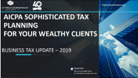 Welcome & Introductions | Business Tax Update