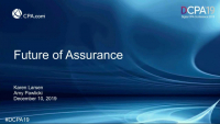 Future of the Assurance Practice