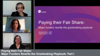 Paying their Fair Share: Major Funders Rewrite the Grantmaking Playbook: Part I