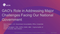 Welcome and Introduction & GAO's Role in Addressing Major Challenges Facing Our National Government