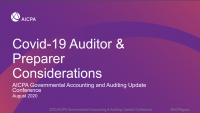 COVID 19 Auditor and Preparer Considerations