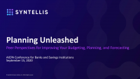 Panel: Planning Unleashed - Peer Perspectives for Improving Your Budgeting, Planning & Forecasting (sponsored by Syntellis Performance Solutions)