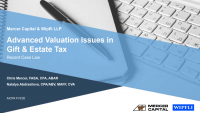Advanced Valuation Issues in Gift and Estate Tax icon