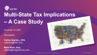 Multi-State Tax Implications - A Case Study icon