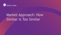 Market Approach: How Similar is Too Similar icon