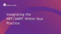 Integrating the MPF/AMPF Within Your Practice icon