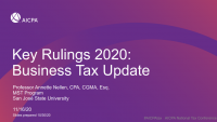 Key Rulings 2020/Business Tax Update icon