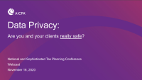 Data Privacy: Are You and Your Clients Really Safe? icon