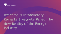 Welcome & Introductory Remarks | Keynote Panel: The New Reality of the Energy Industry icon