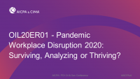 Pandemic Workplace Disruption 2020:  Surviving, Analyzing or Thriving? icon