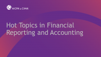 Hot Topics in Financial Reporting and Accounting