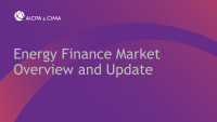 Energy Finance Market Overview and Update