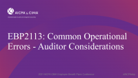 Common Operational Errors - Auditor Considerations