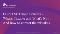 Fringe Benefits - What's Taxable and What's Not - And how to correct the mistakes
