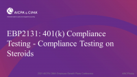 401(k) Compliance Testing - Compliance Testing on Steroids