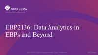 Data Analytics in EBPs and Beyond