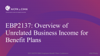 Overview of Unrelated Business Income for Benefit Plans