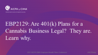 Are 401(k) Plans for a Cannabis Business Legal?  They are.  Learn why.