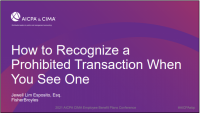 How to Recognize an ERISA Prohibited Transaction When You See One