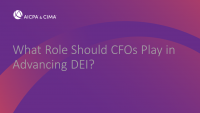 What Role Should CFOs Play in Advancing DEI?