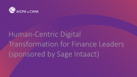 Human-Centric Digital Transformation for Finance Leaders (sponsored by Sage Intacct)