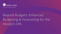Beyond Budgets: Enhanced Budgeting & Forecasting for the Modern CPA icon