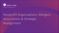 Nonprofit Organizations: Mergers, Acquisitions & Strategic Realignment icon