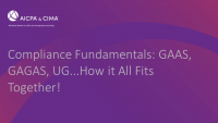 Compliance Fundamentals: GAAS, GAGAS, UG...How it All Fits Together! icon