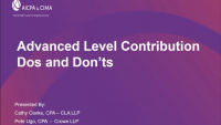 Advanced Level Contributions Do's and Don'ts icon