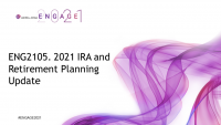 ENG2105. 2021 IRA and Retirement Planning Update