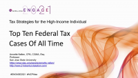TAX2106. Top Ten Federal Tax Cases Of All Time